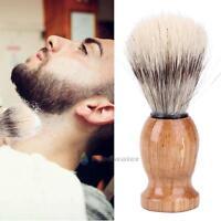 Black Badger Hair Men's Shaving Brush Barber Salon Facial Beard Cleaning Brusher