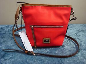 Dooney & Bourke Wayfarer Mini Hobo Nylon/Leather Crossbody~Red~NWT!!!