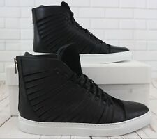 Cipher Radial Classic Black Men's High Top Lace Up Trainers Sneakers