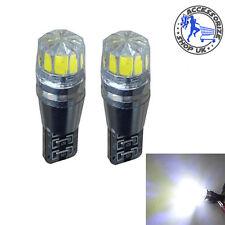 2 X T10 168 194 W5W 501 Blanco LED Coche Auto lateral cuña luz Lámpara Bombilla 12V cree