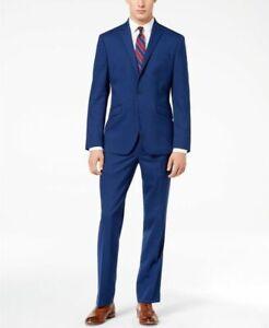 Kenneth Cole Reaction Ready Flex Slim-Fit 2 Piece Suit -Bright Blue- 42R 35x32