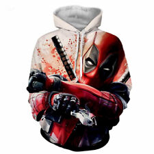 Men's Marvel Deadpool Sweatshirts Long Sleeve Hooded Coat Pullover Hoodies