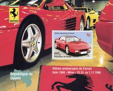 Guinea 1998 MNH Ferrari 50th Anniv Italia '98 1v S/S Cars Stamps
