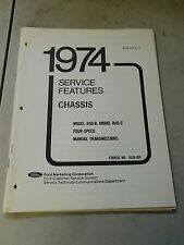 Nos 1974 Ford Mustang Ii Pinto Rad-C Rad-B 4 Speed Transmissions Shop Manual