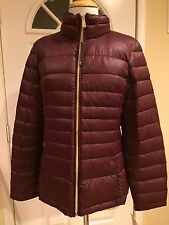 Calvin Klein Lightweight Jacket Puffer Premium Packable Down Petite Wine PM