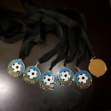 "6 2"" Full Color Soccer Medal with Black Lanyard"