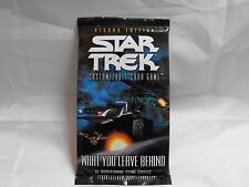 STAR TREK CCG 2E WHAT YOU LEAVE BEHIND SEALED BOOSTER PACK OF 11 CARDS
