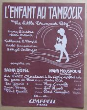 #) partition L'ENFANT AU TAMBOUR - Distel Mouskouri Mauriat Baez Conniff ...