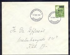 Denmark, 1955, First day cover as local post in Copenhagen with stamp No.353