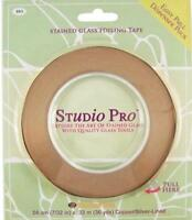 """STUDIO PRO STAINED GLASS 7/32"""" BLACK LINED COPPER FOIL IN DISPENSER PACK ROLL"""