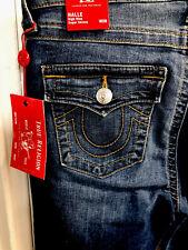 $189 NWT True Religion High Rise Halle FLP Super Skinny Jeans Size 29