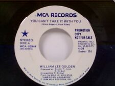 "WILLIAM LEE GOLDEN ""YOU CAN'T TAKE IT WITH YOU / SAME"" 45 PROMO MINT"