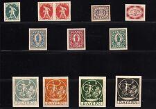Bayern - Sammlung aus  184 - 195 U (*) - geprüft ( 25641 )