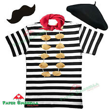 MENS FRENCH MAN fancy dress costume FRANCE 5 PC SET waiter Stag party outfit