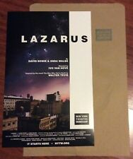 LAZARUS DAVID BOWIE NEW YORK THEATRE WORKSHOP POSTER WITH BAG MICHAEL C. HALL