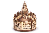 Wood Trick Gifts From Santa Music Box Mechanical Wooden 3D Puzzle DIY Kit Gift