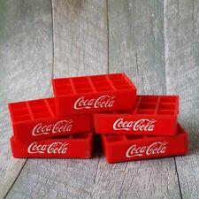 5x Coca Cola Coke Crate Tray Dollhouse Miniature Vintage Wholesale Mini Set Lot
