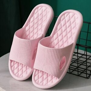 Summer Slides Anti-Slip Beach Sandals Soft Slippers Home Indoor Shoes Slip On