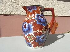 "Jugendstil "" Blumen Kakaokanne "" Keramik gestempelt Milch - Kanne"