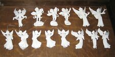 Lot of 14 mixed White hard Plastic Winged Flying Angel Ornaments, 3