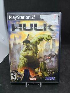 The Incredible Hulk - PS2 (Sony PlayStation 2, 2008) Marvel CIB Black Label