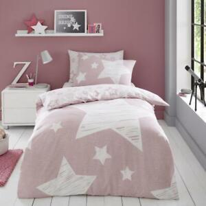 SUPER STAR PINK Children Kids Boys Girls Duvet Pillow Cover or fitted sheet B...