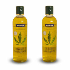 2 Bottles x Melrose Organic Hemp Massage Oil 300ml Moisturising Gentle Body Oil