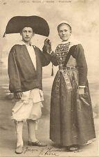 CARTE POSTALE MARIES DE SAILLIE - GUERANDE COSTUME FOLKLORE