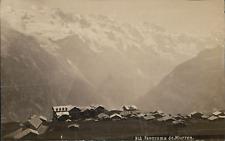 Suisse, Panorama de Murren, vue des sommets et chalets, ca.1880, Vintage albumen