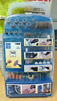 Lux Tools Kit  minitrapano 140 accessori diametro gambi 3 mm valigetta NEW kit