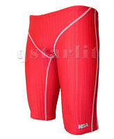 Men Male Practice Competition Training Swimwear Jammer Size 36/38 3XL Red