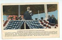 Governor Whitman at New York State Fair SYRACUSE NY Vintage Postcard