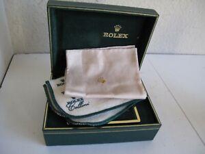 1980's Rolex Watch Presentation Box / Polishing Cloth / Handkerchief
