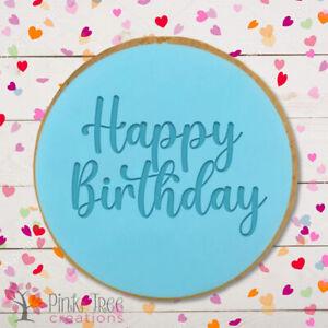 Happy Birthday Day Embosser Stamp, Cookie Cutter, Fondant cupcake, Baking *NEW*