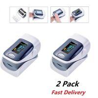 2 Pcs Fingertip Pulse Oximeter Blood Oxygen Meter SpO2 PR Heart Rate Monitor US