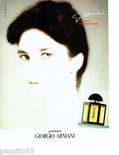 PUBLICITE ADVERTISING 046  1987  les parfums femmes Giorgio Armani