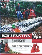 Equipment Brochure - Wallenstein - FX FXP - Skidding Winch Plate (E3306)