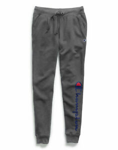 Champion Joggers Sweatpants Womens Powerblend Fleece Tapered Pockets 30in inseam