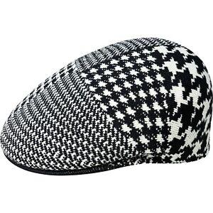 Kangol Original 504 Casquette Flatcap Bêret Bonnet Abstract Motif Pied de Poule