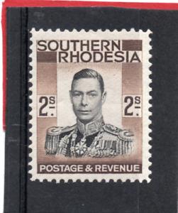 Southern Rhodesia GV1 1937 2s. black & brown. sg 50 HH.Mint