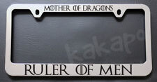 Mother Of Dragons Ruler Of Men Game of Thrones Fans Chrome License Plate Frame