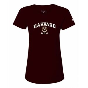 "Harvard Crimson Champion NCAA ""Mom"" Women's Maroon T-Shirt (XS)"