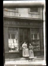 """CHALON-sur-SAONE (71) Devanture COMMERCE EPICERIE MERCERIE """"DESCHAMPS"""" en 1910"""