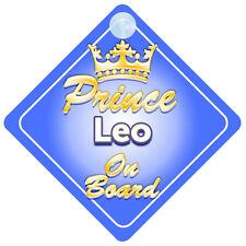 Crown Prince Leo a bordo personalizada bebé niño Coche Señal