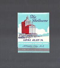 Collectible Vintage 1950s THE SHELBURNE HOTEL, Atlantic City JUMBO LG MATCHBOOK