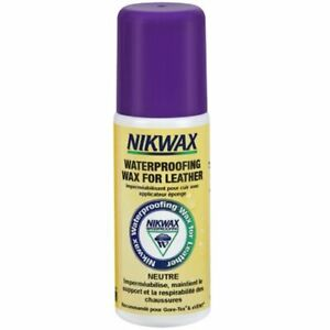 Nikwax waterproofing wax for leather, cire d'entretien pour cuir lisse.