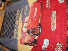 Vintage Disney Pixar Cars Dark Checker Twin Comforter/Blanket I Am Speed