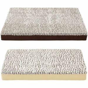 Bunty Ultra Soft Fur Washable Dog Pet Mattress Basket Bed Cushion Fleece Pillow
