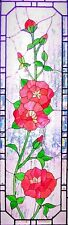 WILD POPPY STATIC WINDOW CLING DOOR GLASS DECORATION STAINED GLASS STYLE