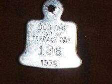 Vintage Niagara on the Lake 1973 #682 Dog Tax Tag License Canada    cf29